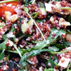 Salade quinoa rouge roquette feta et noix