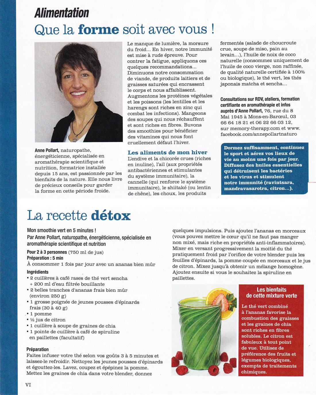 Article Version Femina du 23 janvier 2016